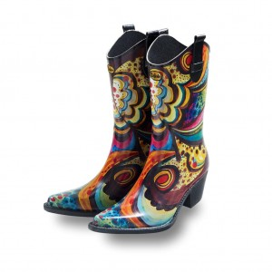 Talolo Floral Bliss Cowboy Wellies
