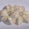 double flower crystal hair clip