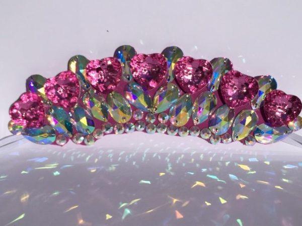 ab pink wide flexi tiara