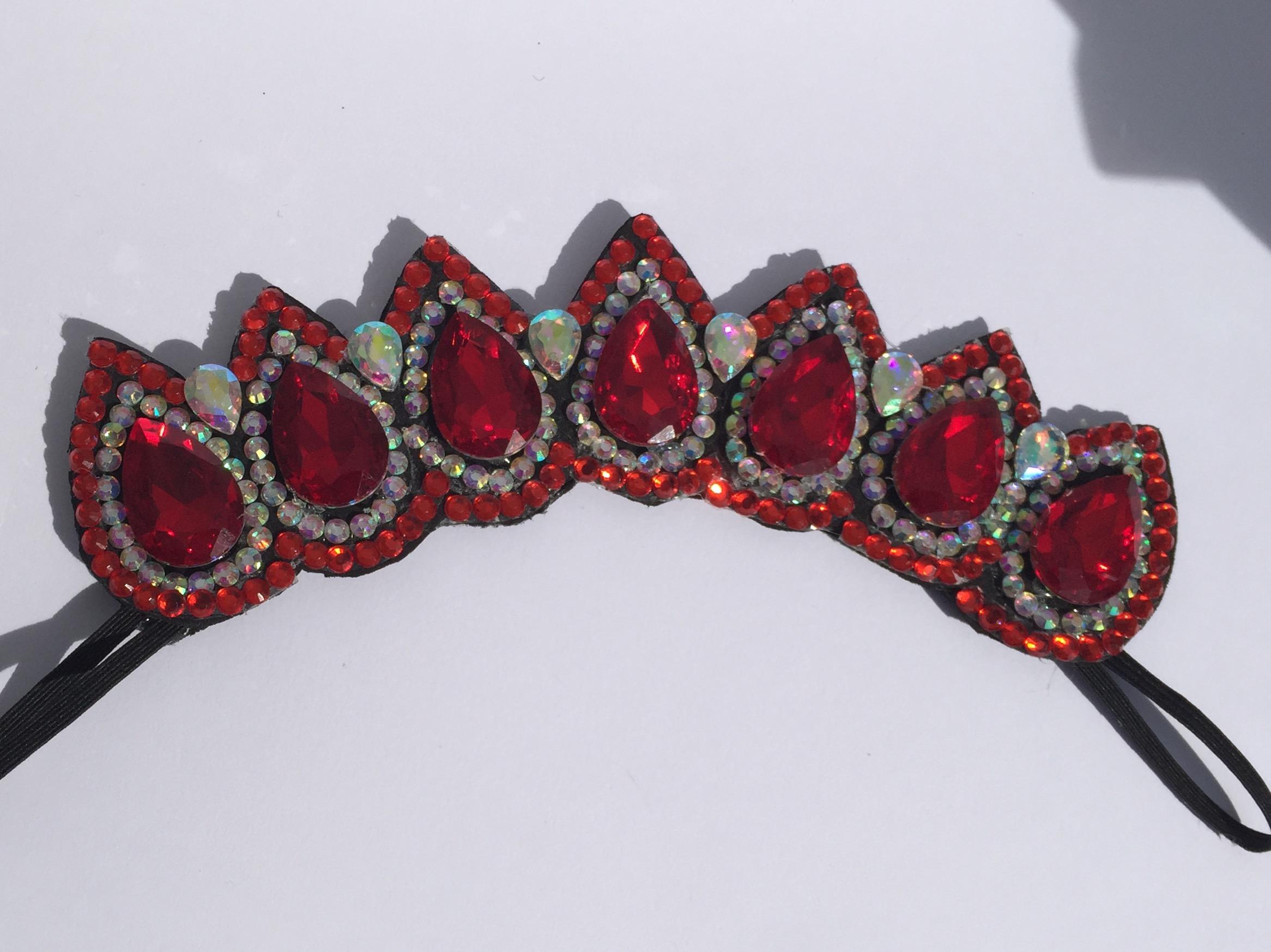 red ab wide flexi tiara